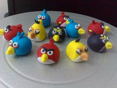 Angry Bird's   made of fondant