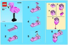 View LEGO instructions for Flamingo - Monthly Minibuild Aug 2013 set number 40068 to help you build these LEGO sets
