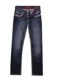 Italian Style jeans - Wam Denim   - Knoops-sluiting - modieuze Wam Jeans - met 4 steekzakken  - Achter 2 zakken - materiaal is van hoogwaardig strech katoen en zorgt voor een comfortabel draaggevoel. - Normale pasvorm -100 % Denim katoen