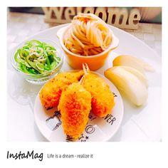 jun's dish photo カニクリームコロッケのワンプレート | http://snapdish.co #SnapDish