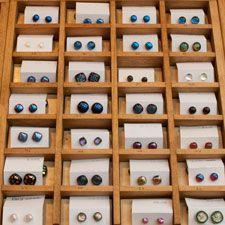 tinklertastic dichroic glass earrings Winchester Xmas Fair 2013