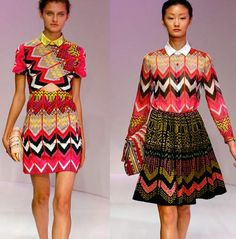Love the cross-stitchy Missoni-esque zig-zags at Carven!