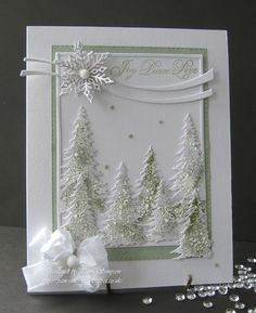Christmas Card - Essential products for this project can be found on Crafting.co.uk - for all your crafting needs. - Joy.. Peace.. Love..