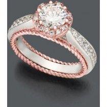 Blush By Design Diamond Ring - 14k Rose Gold Certified - Diamond Flower Ring (1-1/4 ct.) - Polyvore