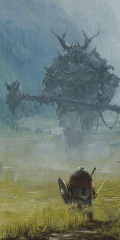 Giant by Jakub Rozalski