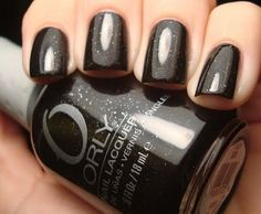 Orly Goth (black with tiny silver sparkles)