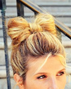 Bow Bun - Not quite my memory per se - I was asked why I had an Arial sticking up from my head. Ahhhhhhhhh... good times....