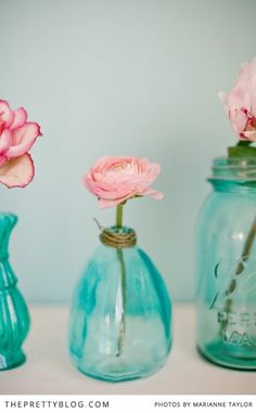 Pink & Turquoise Tea Party - Decor Inspiration - The Pretty Blog