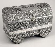 silver treasure chest  jewel box