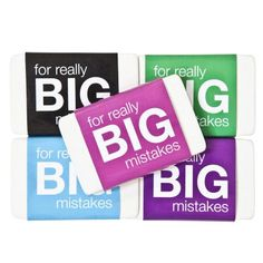 Eraser Big Mistakes from Smiggle