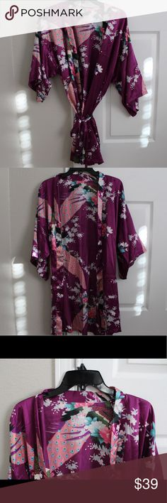 Kimono/Robe This was given to me as a gift, it is so soft and silky and still in brand new condition! I wish I could wear it all the time but I have one already. Also if you want to be like Schmidt from New Girl now is your chance. Intimates & Sleepwear Robes