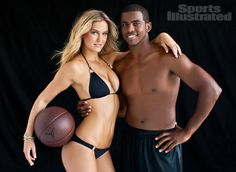 Bar Refaeli and Chris Paul were photographed by Walter Iooss Jr. in New York. Her Swimsuit by Vitamin A by Amahlia Stevens; His Shorts by Jordan Brand.