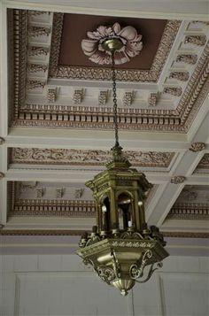 El Capitolio - Havana, Cuba Classic Interior, Hanging Lanterns, Color Lines, Cafe Design, Chandelier, Ceiling Lights, Cornice, Cuban, Bella