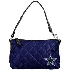 Dallas Cowboys Ladies Navy Blue Wristlet Quilted Purse