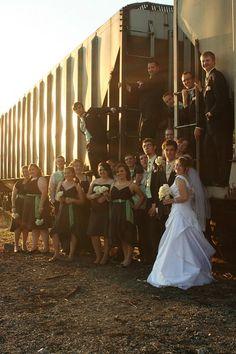 Wedding Party on a Train