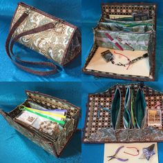 Beading and jewelry making bag with detachable by QuiltessaNatalie