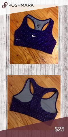 ✨Nike Sports Bra✨ Cute purple polka dot Nike sports bra! Great condition !! Nike Intimates & Sleepwear Bras