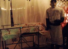 Halloween morgue partial scene