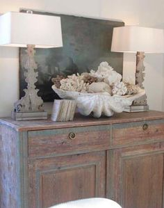 Love!   Driven By Décor: Decorating on the Half Shell: Clamshells in Home Décor