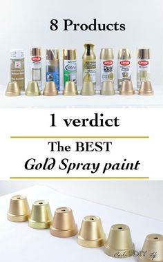 Looking for the best gold spray paint? Frustrated with trying to find a gold spray paint by looking at the cap? Now you don't have to waste time and money trying out every brand! I tested 8 products and give you all the details!