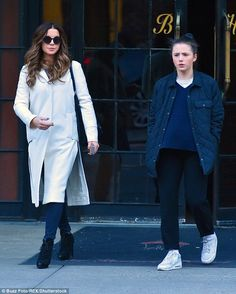 Choices: While Kate tottered along in her heels, her daughter opted for a comfortable pair...