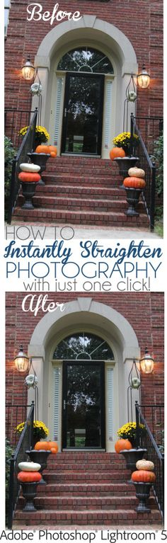 How to straighten photos in lightroom5 with just one click!  Instantly transform your pictures!   via Unskinny Boppy #photography #photoediting