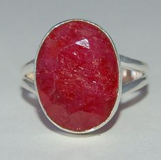 Huge Rich Pink Red Ruby Ring Size 7 by WindstoneDesigns on Etsy, $48.95