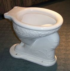 This is a real nice antique bowl. It can be paired with either a high or low toilet tank. It has a 2 rear spud. It takes a standard round front Victorian Life, Victorian Bathroom, Toilet Bowl, Bathroom Fixtures, Toilets, Canning, Cool Stuff, Antiques, Tableware