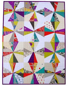 """I've been thinking about using this liberated block for some of my whole-line stash stuff and was looking for examples done in prints rather than solids (though I absolutely LOVE the """"Mexican Hat Dance"""" quilt in Gwen Marston's book). This is so cool! Definitely on the list.   I also like the idea of using different neutrals... it definitely changes the character a bit and works really nicely with this particular fabric line.  Red Pepper Quilts: Liberated Star Quilt - Collage by Carrie…"""