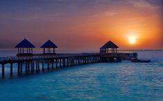 The #GoldenHour at #JAManafaru in the #Maldives .