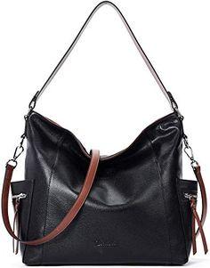 Ladies Designer Shoulder Bag Handbag Tote PU Leather Trim Day Work Womens Hobo
