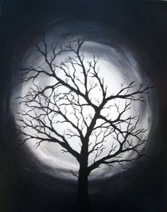 painting tree canvas paintings easy trees dark creative watercolor cartoondistrict moon diy redboth drawing introverted 430xn acrylic leinwand discover kreative