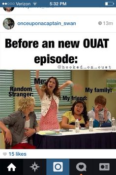 I just have to say that this is exactly what it's like with my family when I get super exited on Sundays waiting for an episode