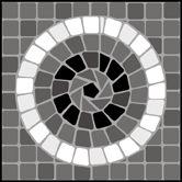 Mosaic Corner/Tile No 9 stencils, stensils and stencles