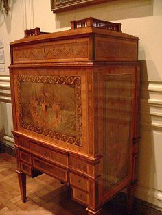 French oak secretaire 1780