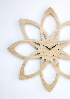 mid century modern inspired sunburst clock by uncommon on Etsy