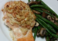 Stuffed Salmon w/ Crab and Shrimp Recipe -  Yummy this dish is very delicous. Let's make Stuffed Salmon w/ Crab and Shrimp in your home!