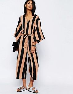Printed Jumpsuit - Black Liquorish