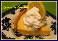 Old Fashioned Lemon Icebox Pie MADE THESE INTO LIL TARYS USING RHE READY CRUSTS FROM KEBLER. REALLY LEMONY!!! DON'T FORGET TO USE YOUR WHITES FOR MERINGUE!!!