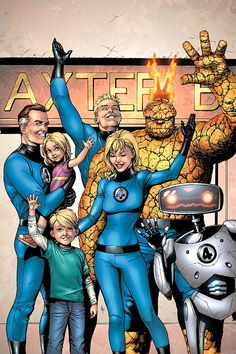 4 Marvel Knights) Marvel Comics Modern Age Comic book covers Super Heroes Villians Sue Storm Reed Richards The Thing Human Torch Fantastic Four 30 Ms Marvel, Marvel Comics Art, Marvel Heroes, Captain Marvel, Cosmic Comics, Fantastic Four Marvel, Mister Fantastic, Mike Deodato, Emma Frost