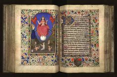 Isabeau de Roubaix was the last of a noble, northern French family whose fortune had been. Medieval Books, Medieval Manuscript, Medieval Art, Illuminated Manuscript, Roubaix, Bible Covers, Book Of Hours, Prayer Book, Penmanship