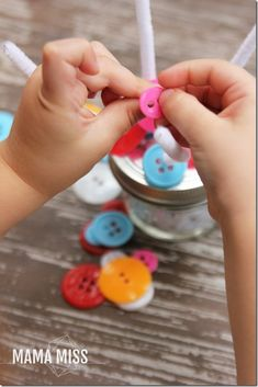 Just encourage kids to use index and thumb (pincer grasp) instead of middle fingers to improve strength! Motor Skills Activities, Montessori Activities, Art Activities, Fine Motor Skills, Toddler Activities, Preschool At Home, Toddler Preschool, Emergent Curriculum, Middle Fingers