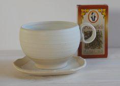 stoneware tea cup