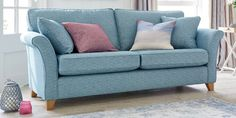 Buy Brompton Occasional Sofa Bed - Medium People) Tweedy Blend Teal Low Tapered - Light from the Next UK online shop Small Sofa, Large Sofa, Brompton, Cottage Interiors, Dream Decor, Sofa Design, Sofa Bed, Sofas, Love Seat