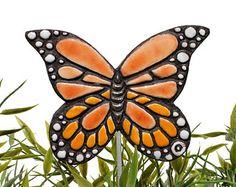 farfalla arte giardino palo pianta arredamento giardino di GVEGA