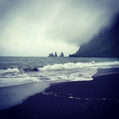 Rainy day in Vík í Mýrdal