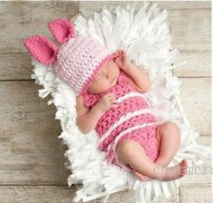 Pink overhalls with hat crochet baby by Prettylittlethings16, $29.99. I just adore crochet outfits for newborns. Melts my heart. =)