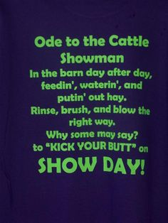 Show Cattle Shirts | CATTLEJUNKY T'S
