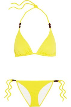 Manzanilla Triangle Bikini #HeidiKlein #Yellow