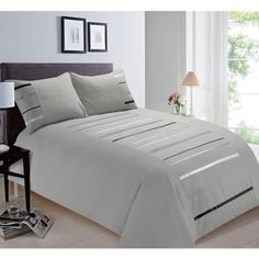 076ca5d6382 Damask Double Duvet Set Twin Pack - Grey in 2018